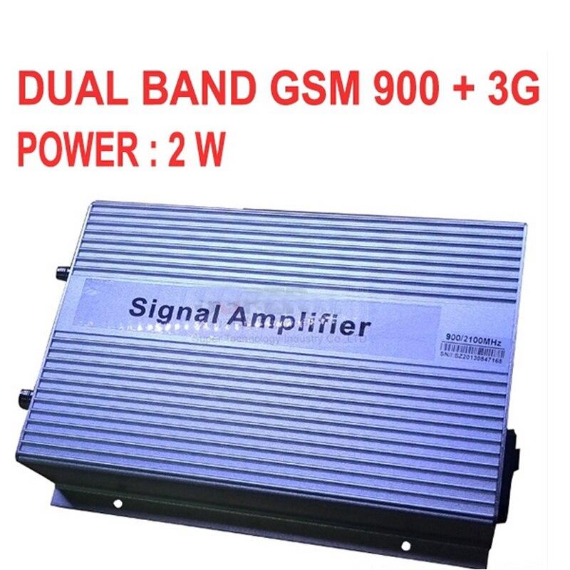 Haut gain 3000sq mètres 2 W GSM 900 3G 2100 MHZ double bandes BOOSTER GSM + 3G répéteur, 3G booster, WCDMA répéteur 3G booster de SIGNAL