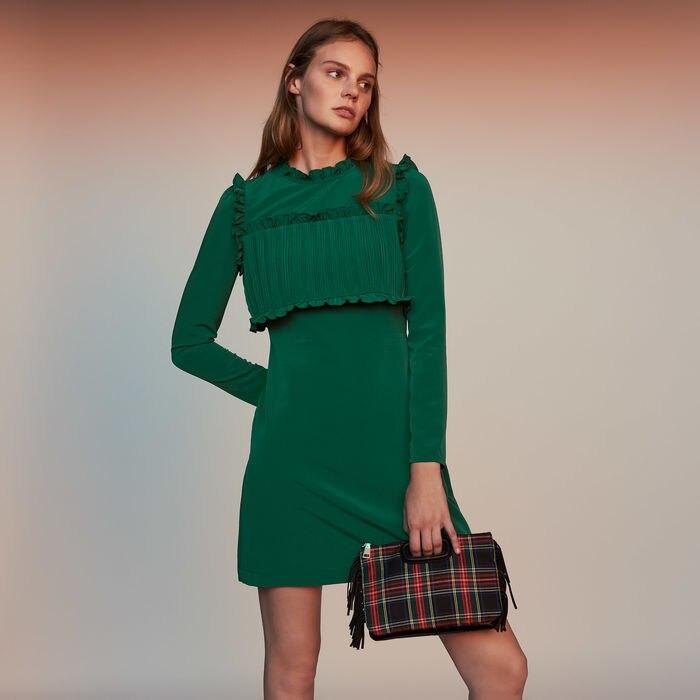 Women Dress 2019 Autumn and Winter Pleated Dress