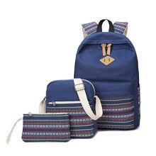 Мода Рюкзак Трех частей сумка новый 2017 мешок школы женщин народной обычай mochila Бесплатная доставка CHISPAULO бренд