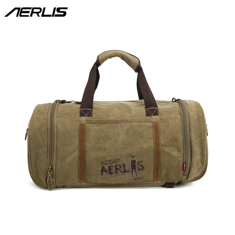 Aerlis Brand Design Men Handbag Canvas Messenger Crossbody Bag Male Travel Solid Satchel Shoulder Tote Bags With Zipper AE1018