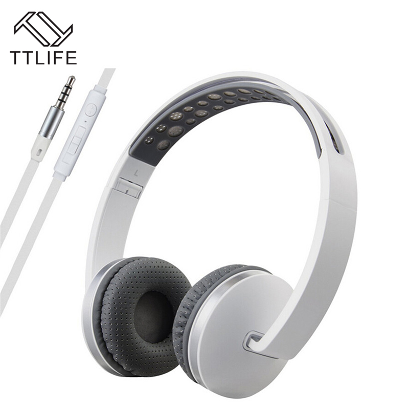 TTLIFE Brand Headphones Mp3 Bass Gaming Earphones and Headphone Foldable Brand Wired Headsets Ear Phone Earbud for Computer PC sound intone ms200 headphones headsets for phone computer mp3 bass high quality earphones foldable brand wired pc headphone