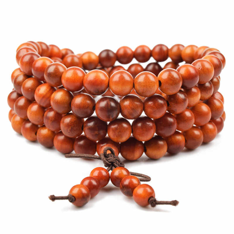 Sandalwood Rosary Bracelets Women Men Jewelry Natural Wood Beaded bracelet homme