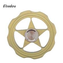 Elsadou Round Five Point Star Hand Spinner Geometric Shapes Fidget Toys Finger Spinner