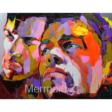 Knife Palette Picture Modern Pop Art Nielly Francoise Hand Painted Abstract Oil Paintings Art Wall Decoration Cool Face Fine Art