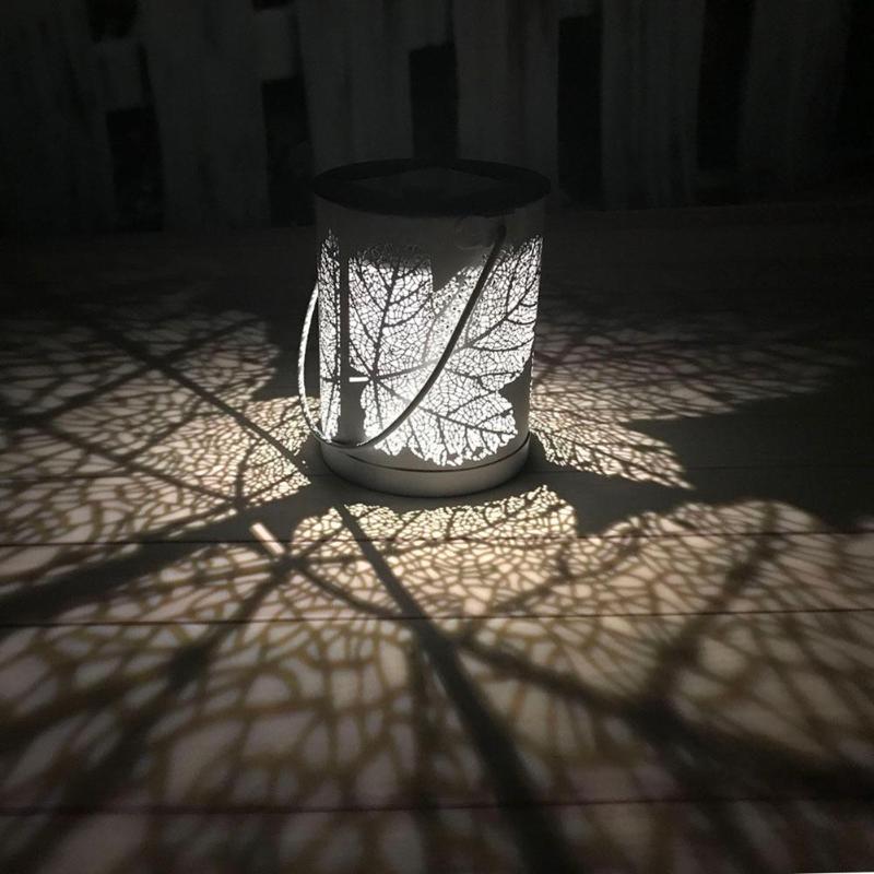 2pcs Metal Rattan Outdoor Solar Hanging LED Lights Waterproof Solar Lamp Garden Yard Decoration Lamps