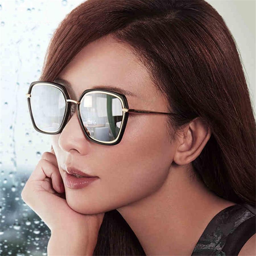 Kvadratna sončna očala Ženska blagovna znamka oblikovalka Vintage - Oblačilni dodatki