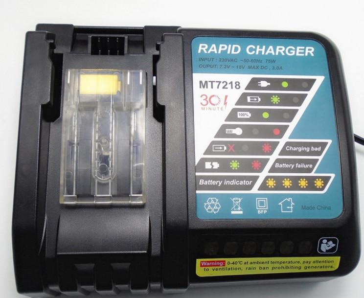 DC18RA Li-ion 18V 3Ah Fast Battery Charger from 14.4V to 18V for BL1415, BL1430 194205-3,194309-1, BL1815, BL1830,LXT400 набор bosch ножовка gsa 18v 32 0 601 6a8 102 адаптер gaa 18v 24