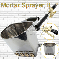 UPGRADE Cement Mortar Stucco Sprayer Hopper Spray Gun Concrete Tool Painting Wall 4 Jet