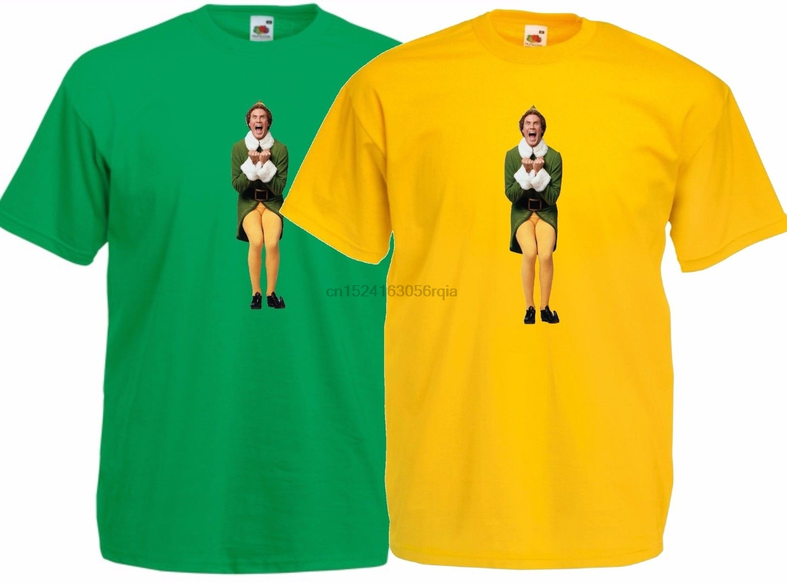 41419bbc3 Buddy the Elf Will Ferrell. Excited Christmas Movie T Shirt-in T ...