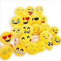BeddingOutlet Bonito Emoji Coxim Casa Sorridente Rosto Travesseiro Recheado Brinquedo de Pelúcia Macia 32 cm x 32 cm Melhor Vender