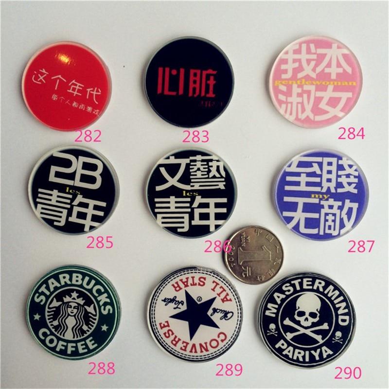 Clothing badge language  acrylic cool skull brooch Cartoon Harajuku badge Bag Brooch Gift Channel XZ92
