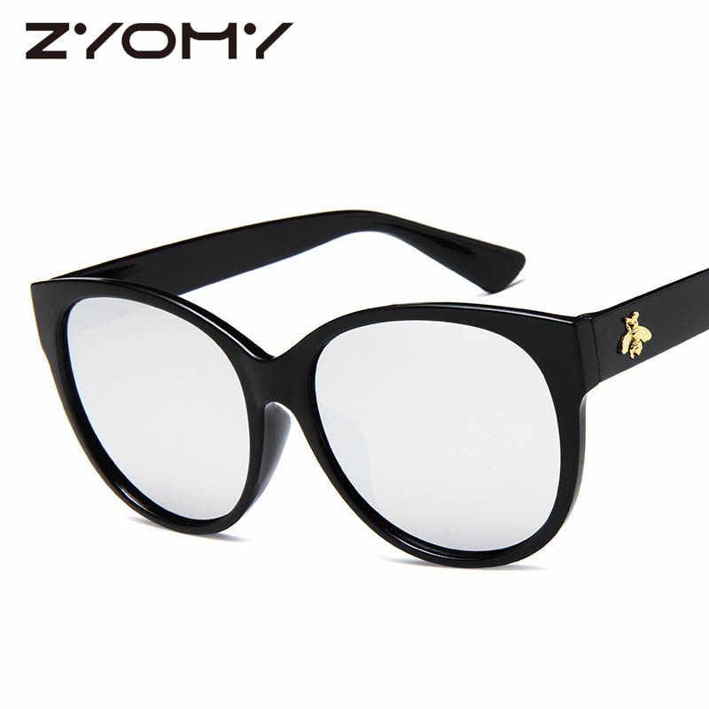 Merek Desain Besar Lebah Madu Kacamata Vintage Wanita Kacamata Bingkai Besar Retro Kacamata Lensa Kacamata Hitam Pria Oculos De Sol