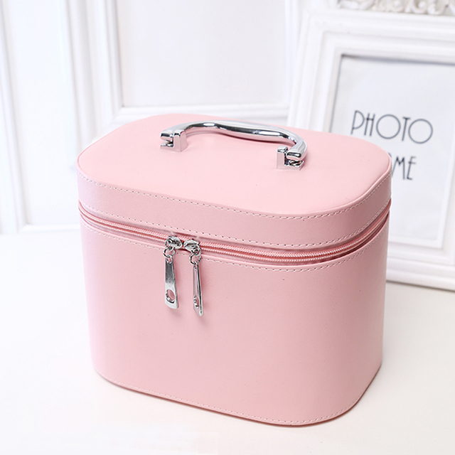 Korean style New Women Lady Multifunction Travel Cosmetic Bag PU Makeup Case Pouch High Quality Toiletry Organizer