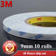 10x 9mm*50Meters *0.15mm 3M 9448A white clear two Sided Adhesive sticky Tape for electrical devices glass and touch screen