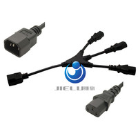 10A 250V IEC 320 C14 Male Plug To 3XC13 Female Y Type Splitter Power Cord C14