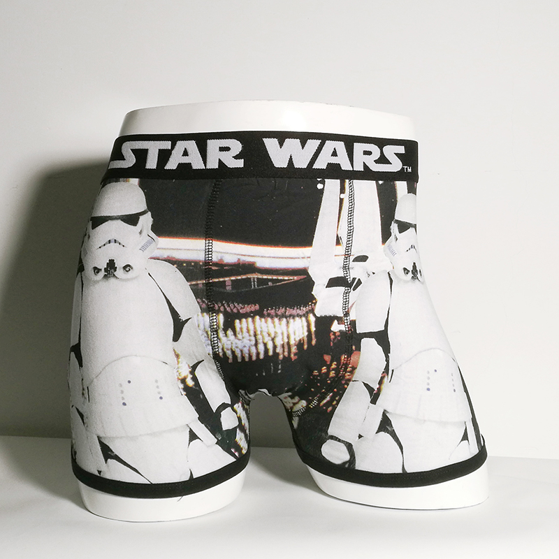 Print Cartoon Boxer Underwear Cotton Men Star Wars Boxers Storm Trooper Underpants Boxers Shorts Panties Mens Under Wear Trunks