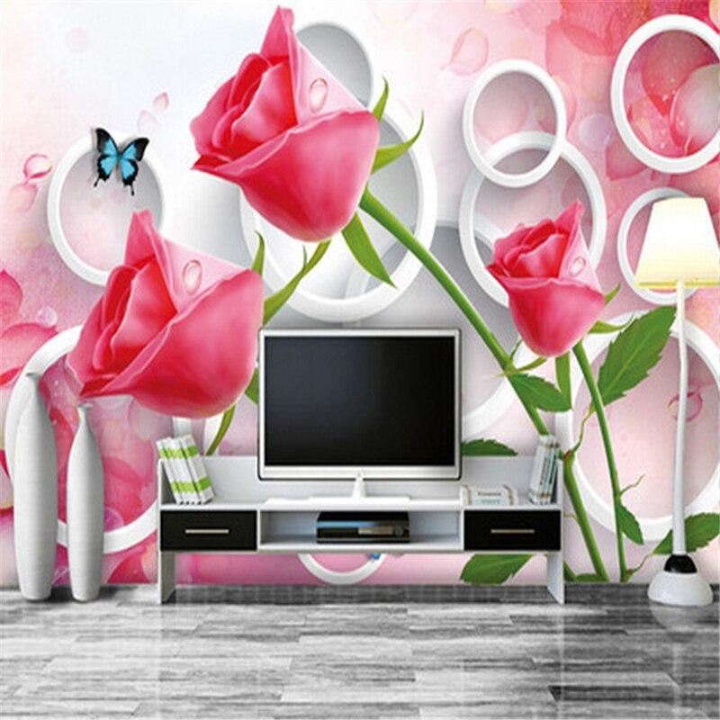 Beibehang Fleurs Personnalisé 3d Mural Papier Peint 3d