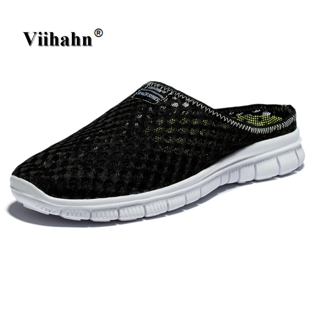 Viihahn Men s Slippers Casual Shoes Flat Sandals Breathable Mesh Shoes Beach Aqua Anti Slip Outdoor