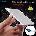 YFW Ultra Slim 5.6 мм Портативный Кошелек Зарядное Устройство Мини Кредитной Карты Банка Силы Портативное Зарядное Устройство со Встроенной Кабель для Android телефон