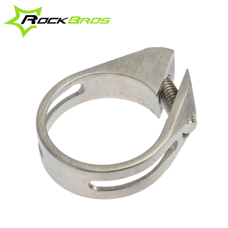 ROCKBROS Cycling Bicycle Titanium GR5 Fully CNC Machined Seat Post Seatpost Clamp 31.8mm/34.9mm Ti Alloy Bolts Bike Parts bicycle seatpost 31 8 580mm for brompton yr yt folding bike aluminum seat post 345g bike parts