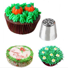Kitchen 1pc Creative Grass Icing Nozzle Piping Tips Sugarcraft Cream Cake Cupcake Decorating Tool for the Kitchen JD661