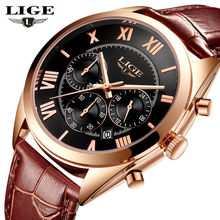 2017 luxury brand newFashion  Leather Strap Multifunction Watches Men Quartz Watch Waterproof Wristwatches Male Table Relojes