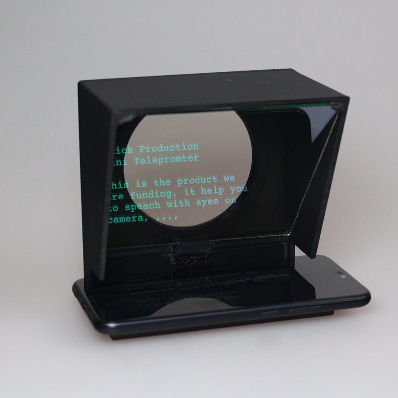Upgrade Mini teleprompter  portable inscriber mobile teleprompter artifact video with remote control-in Integrated Circuits from Electronic Components & Supplies
