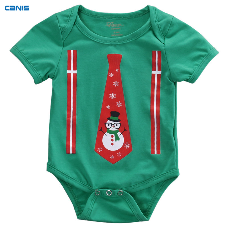 4b9ea203127ef CANIS Christmas Baby Boy Girl Rompers Newborn Infant Snowman Print Jumpsuit  Clothes Outfits Baby Clothing Xmas Gift ropa bebe