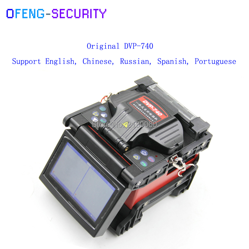 Fiber Optic Splicing Machine Fusion Splicer Fusionadora De Fibra Optica Multilanguage DVP740 Fuison Splicing Machine