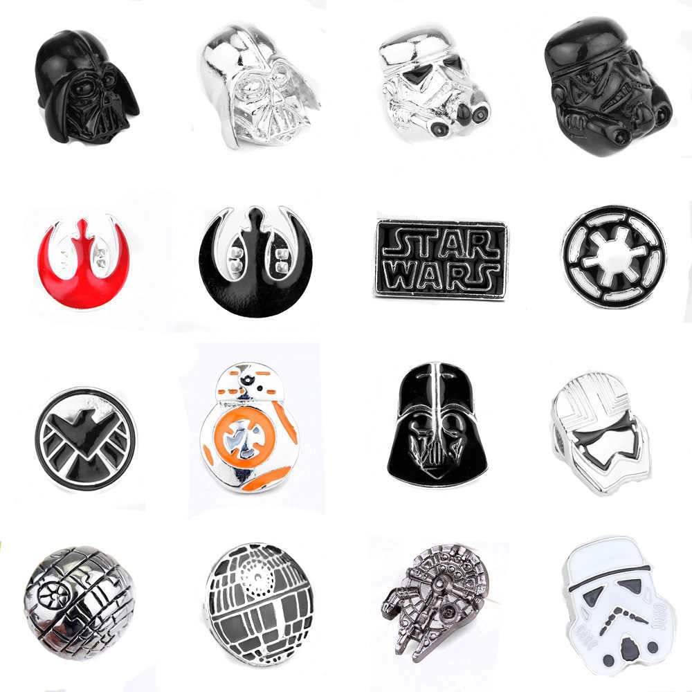 Star Wars Pin Stormtrooper Bros Pin Star Wars Darth Vader Aliansi Pemberontak Falcon Bros Lencana Kerah Pin Pria