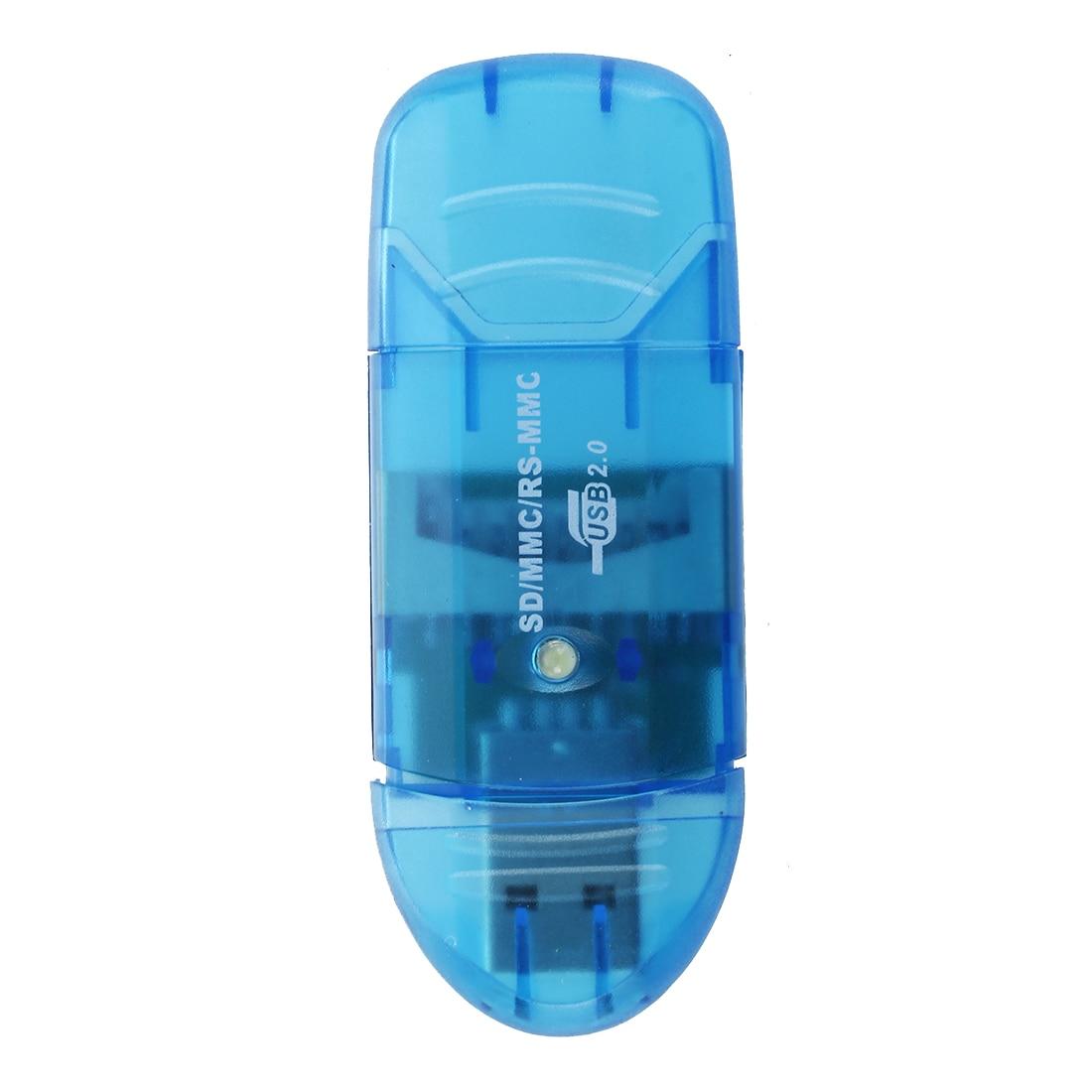 SD HC Card Reader Blue USB Key Format