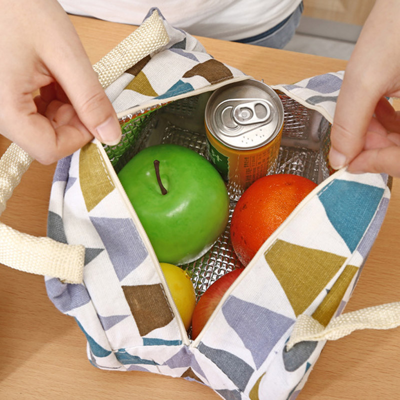 Portable Baby Insulation Bag Feeding Food Milk Thermo Linen Stripe Mummy Travel Breast Milk Keep Warm Handbag Casual Tote BB5030