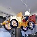 Creative Kids Room Retro Classic Car Led pendant lights Light Warm Pastoral Boy Living Study Bedroom Cartoon Dangle Lighting