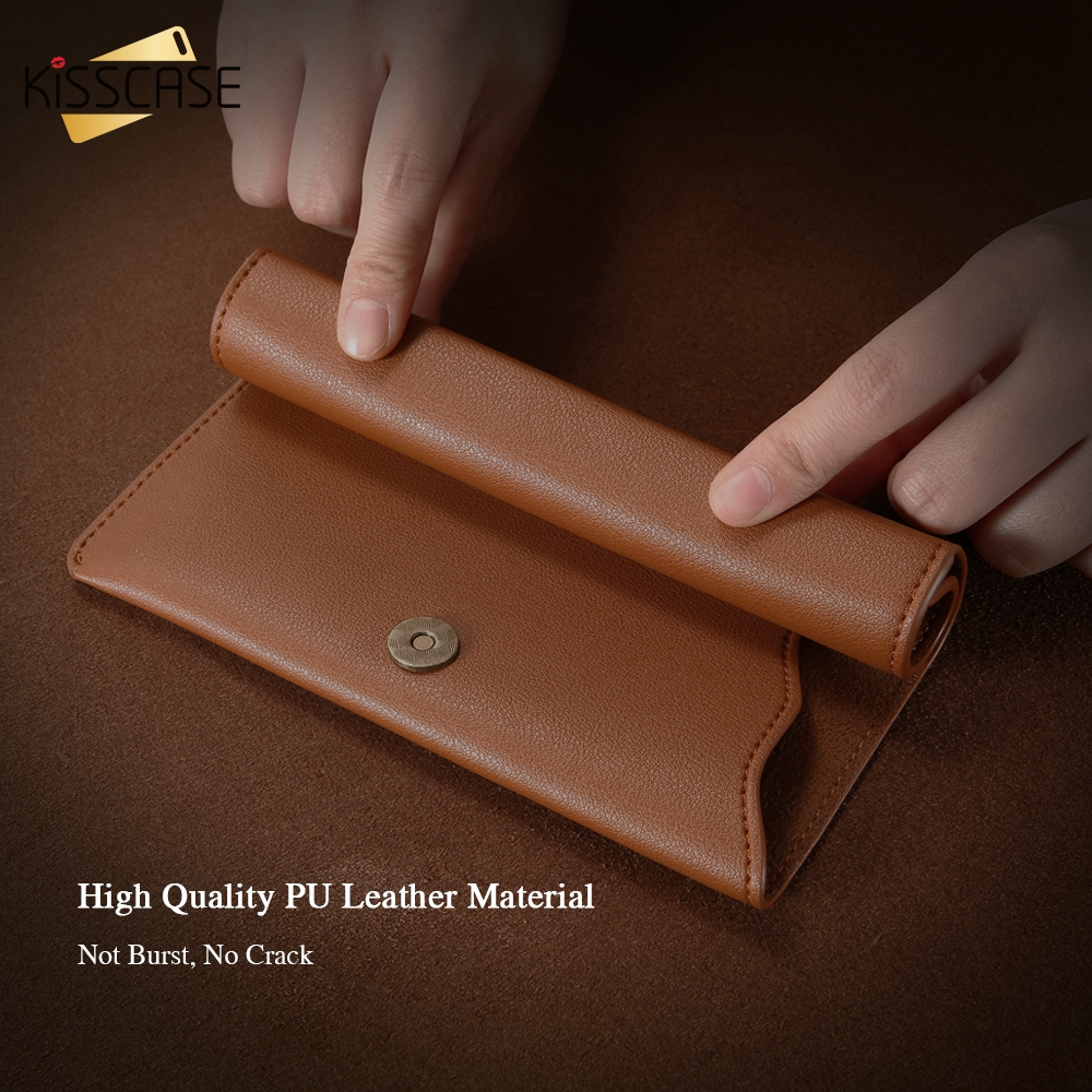 Image 3 - KISSCASE Luxury Durable Leather Wallet Pouch Phone Case For iPhone Samsung Huawei Xiaomi Meizu Cover Mobile Phone Bag Cases-in Phone Pouches from Cellphones & Telecommunications