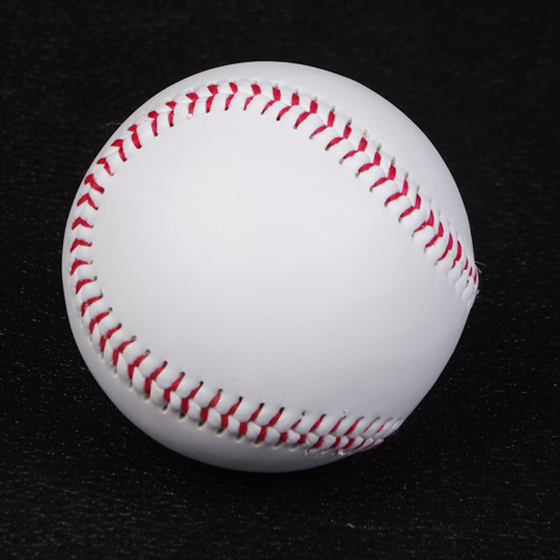 1pcs 6.3cm White Safety Kid Baseball Base Ball Practice Training PU Child Softball Balls Sport Team Game No Hand Sewing