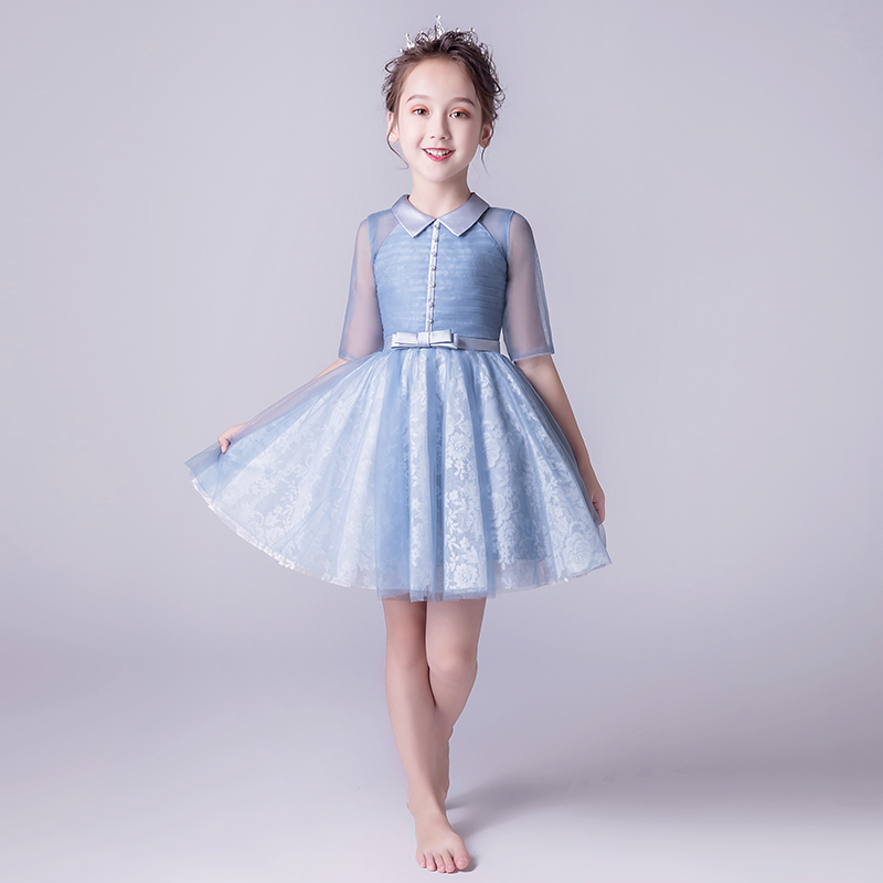 цена на 2018 autumn white princess wedding tutu dress children clothing formal toddler girl party dress for girls clothes kids dresses