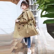 Girls Windbreaker jackets 2019 Autumn New Children cotton Trench Coat Double-bre