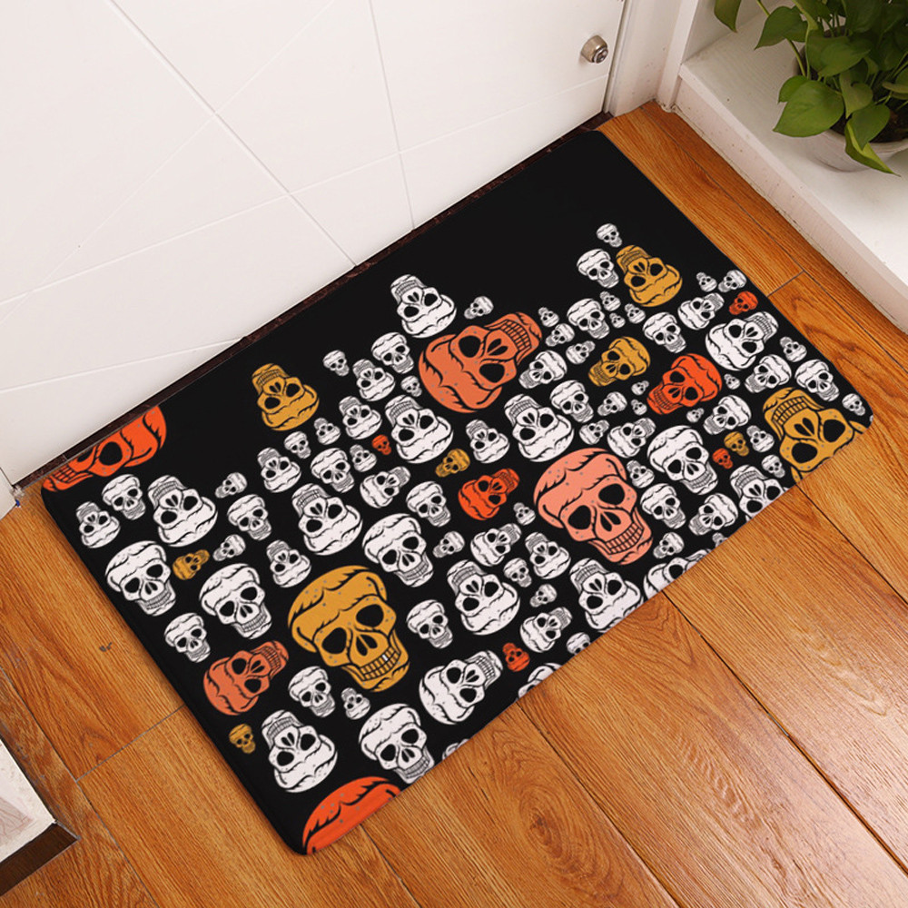 Online Shop Halloween Home Non Slip Door Welcome Floor Mats Hall Rugs  Kitchen Bathroom Carpet Outdoor Rugs Dust Proof Tapete Decor 40X60CM |  Aliexpress ...