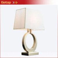 American Creative Gold Iron Desk Lamp Nordic Simple Retro Bedroom Bedside Lliving room Study Room Table lamp cloth