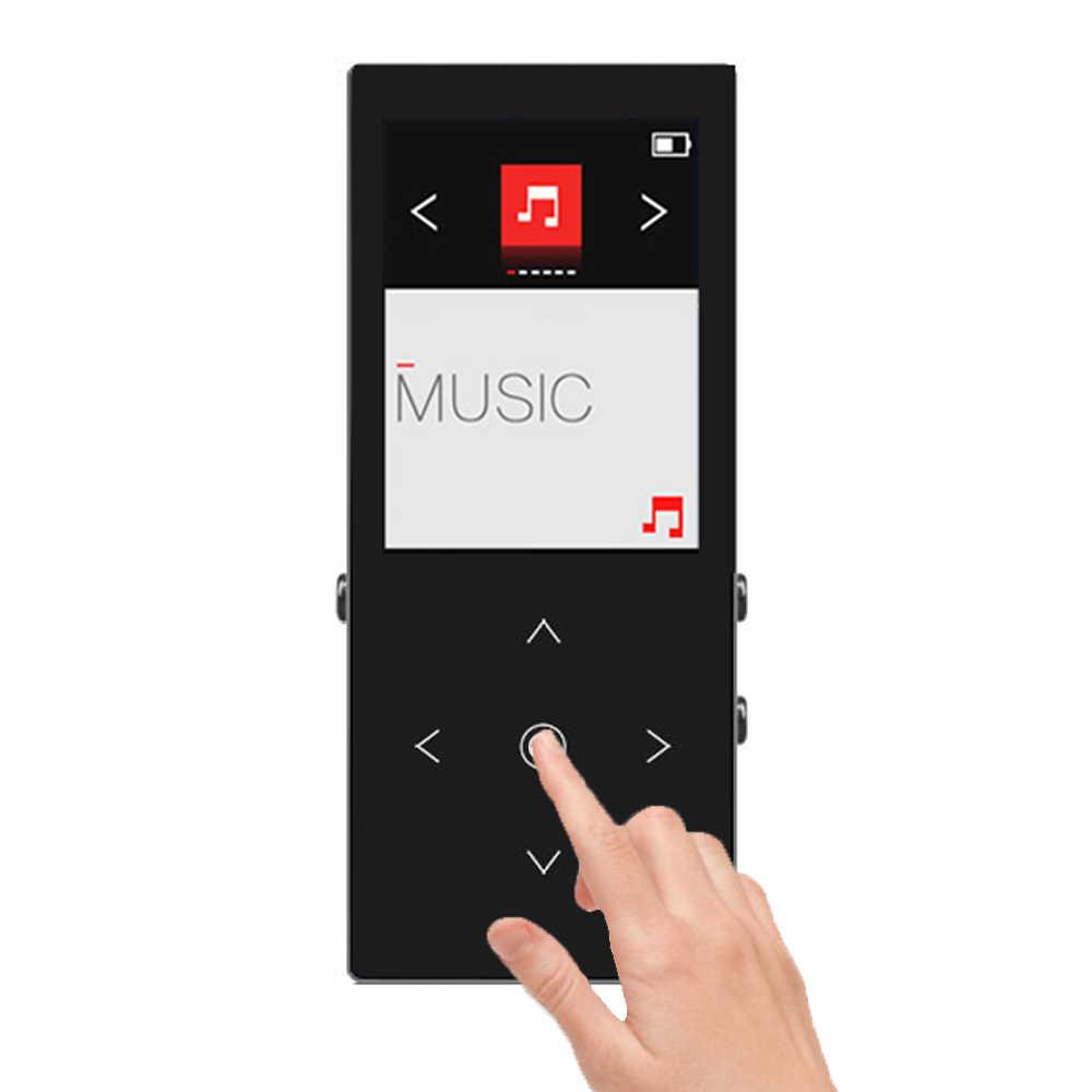 Bluetooth MP3 プレーヤー 8 グラムラドムと再生ロスレスサウンド音楽再生タッチボタンと FM ラジオプレイリスト Ablum 機能 k8