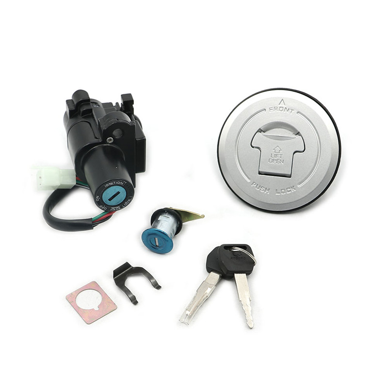 Petrol Oil Ignition Switch Lock Fuel Tank Cap Cover Lock Key Sets For Honda CB500 2013