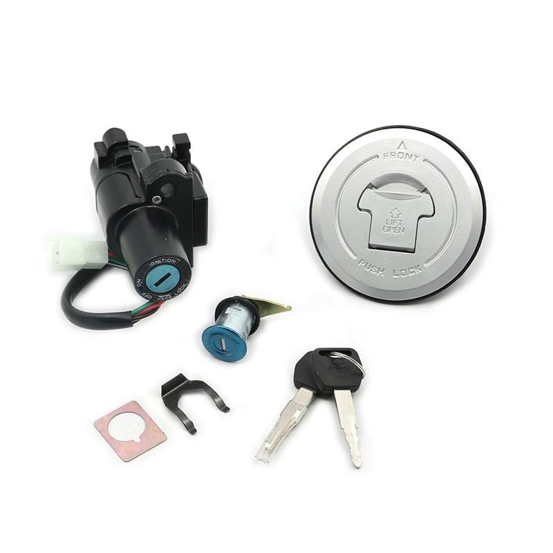 Huile essence interrupteur d'allumage serrure réservoir de carburant bouchon couvercle serrure ensembles de clés pour Honda CB500 2013-2014 CB600 Hornet 2003-2006 2004 2005