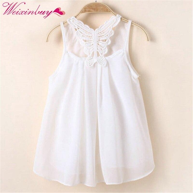 Baby meisje jurk zomer mouwloze zonnejurk jurk voor meisje Chiffon - Kinderkleding