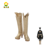2017 New Cartoon Batgirl Cosplay Boots Halloween Shoes Party Carnival Accessories For Adult High Quality Props