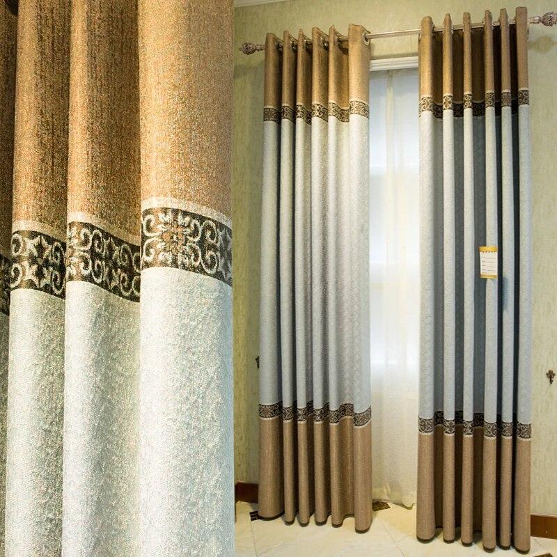 rideaux coupe vent epais livraison gratuite 2 couleurs chenille moderne style europeen rideaux pour salon