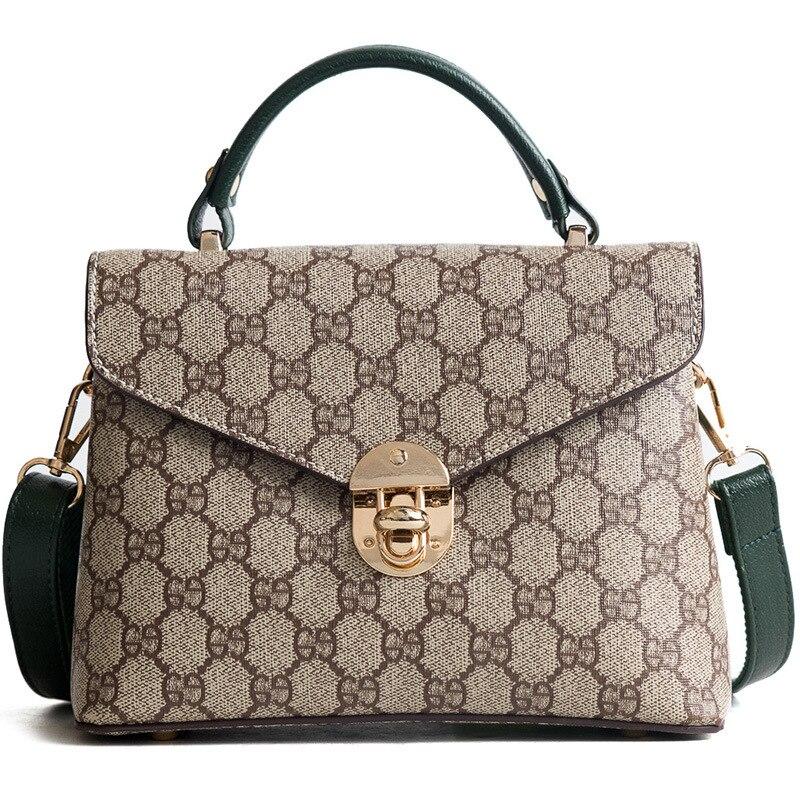 Brand Design Luxury Fashion Women Bag Single Shoulder Oblique Straddle Bag 2018 New Spring And Summer Lady Old Flower Handbag