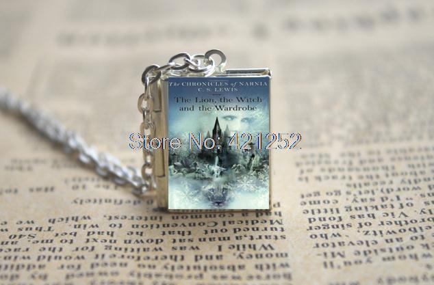<font><b>The</b></font> <font><b>Chronicles</b></font> <font><b>of</b></font> <font><b>Narnia</b></font> Book Locket Necklace, SILVER tone VISION <font><b>the</b></font> <font><b>lion</b></font>, <font><b>the</b></font> <font><b>witch</b></font> and <font><b>the</b></font> wardrobe