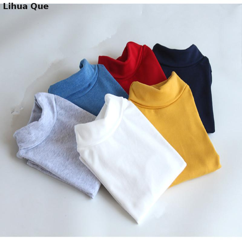 2016 new winter baby boys and girls long-sleeved high-necked T-shirt bottoming shirt cotton children's long-sleeved t-shirt