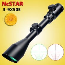 NcSTAR 3 9X50 Hunting Rifle Scope Tactical Optical Sight Ranging Reticle Red Green Illuminated Angled Integral