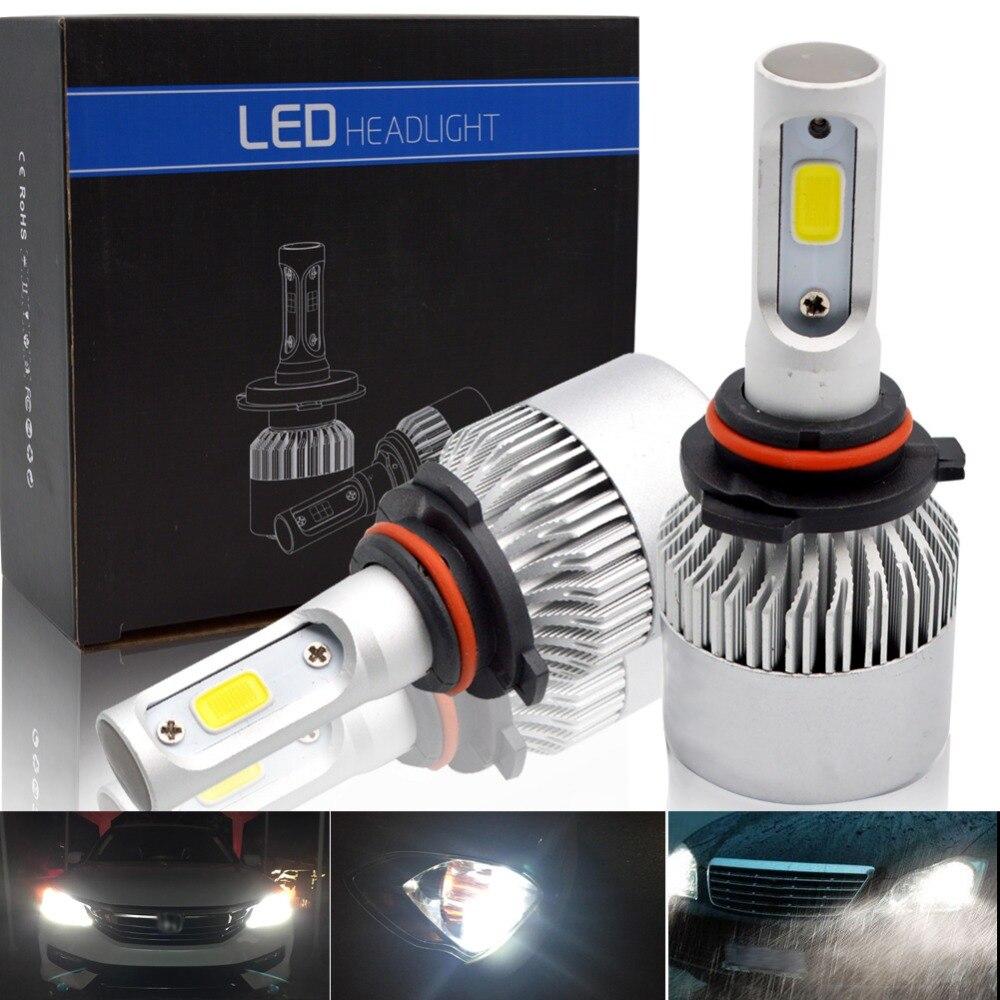 H4 H7 Car LED Headlight Bulbs 72W Hi//Lo Beam 8000LM Fog Light 6500K Super Bright